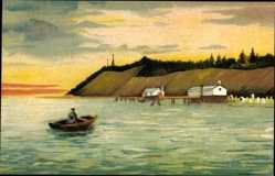 Künstler Ak Koserow an der Ostsee, Blick auf den Strand, versunkenes Vineta