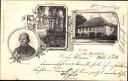 Postcard Burgdorf, Blick auf Superintendentur, Grabstätte, Philipp Spitta