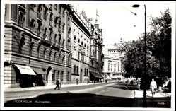 Postcard Stockholm Schweden, Hamngatan, Straßenpartie, Gebäude