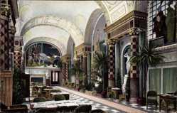 Postcard Wiesbaden in Hessen, Neues Kurhaus, Im Muschelsaal