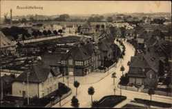 Postcard Brunsbüttel im Kreis Dithmarschen, Straßenkreuzung, Weitblick