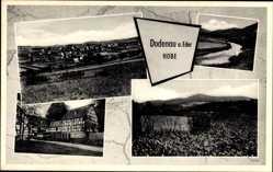 Postcard Dodenau Eder Battenberg, Gasthof zur Hobe, See, Gesamtansicht der Stadt