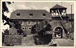 Postcard Dilsberg Neckargemünd in Baden Württemberg, Jugendherberge, Flagge