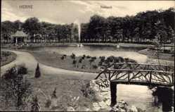 Postcard Herne im Ruhrgebiet Nordrhein Westfalen, Fontäne im Stadtpark