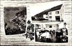 Postcard Steeg Bacharach am Rhein, Pension Zum Steeger Tal, A. Kimpel
