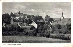 Postcard Bad Iburg in Niedersachsen, Panorama mit Kirchturm