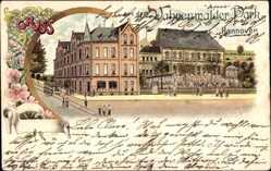 Litho Hannover in Niedersachsen, Wahrenwalder Park, Gebäude