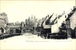 Postcard Nürnberg in Mittelfranken Bayern, Blick vom Kettensteg