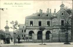 Postcard Karlsruhe in Baden Württemberg, Straßenpartie mit Blick auf Grenadier Kaserne