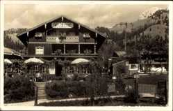 Postcard Osterhofen Bayrischzell im Mangfallgebirge Oberbayern, Cafe Schönblick