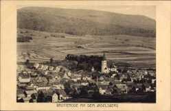 Postcard Brotterode Trusetal, Teilansicht des Ortes mit Inselsberg