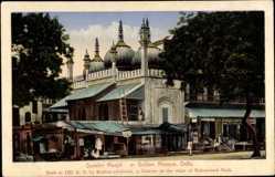 Postcard Delhi Indien, Sunehri Masjid, Golden Mosque, Goldene Moschee