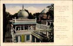 Postcard Delhi Indien, General View, Tombs of Sultan Nizamuddin Aulia, Jahanara Begum