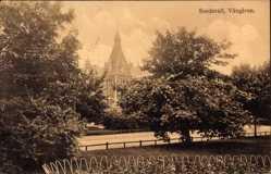 Postcard Sundsvall Schweden, Vängavan, Straße, Grünanlagen