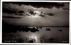 Postcard Furuvik Schweden, Solnedgang, Sonnenuntergang, Wasserblick