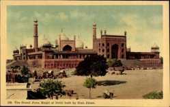 Postcard Delhi Indien, The Grand Juma Masjid, Built by Shah Jahan