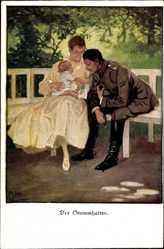 Künstler Ak Wennerberg, Bruno, Der Stammhalter, Soldat mit Frau und Kind