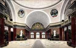 Postcard Wiesbaden in Hessen, Neues Kurhaus, In der Wandelhalle