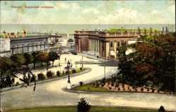 Postcard Odessa Ukraine, Börsenplatz, Straßen, Grünanlagen