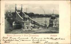 Postcard Budapest Ungarn, Ferencz Jozsef hid, Franz Josefsbrücke