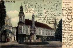 Ak Henryków Heinrichau Schlesien, Ansicht vom Schloss, Zamek