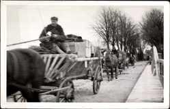 Foto Ak Krasnosnamensk Kaliningrad Haselberg Ostpreußen, Bauern, Pferdekarren