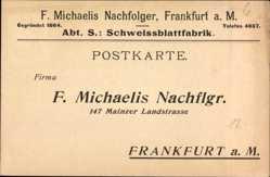 Postcard Frankfurt am Main, F. Michaelis Nachflgr., 147 Mainzer Landstraße