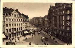 Postcard Saarbrücken a.d. Saar, Café Kiefer in der Bahnhofstraße