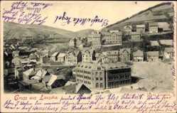 Postcard Lauscha im thüringischen Kreis Sonneberg, Totalansicht, Gebäude