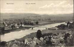 Postcard Kirchohsen Emmerthal, Blick in das Wesertal, Brücke, Fluß