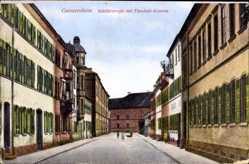 Postcard Germersheim am Rhein, Schillerstraße mit Theobald Kaserne