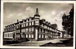 Postcard Königfeld im Schwarzwald Baar Kreis, Hotel Pension Gasthof der Brüdergemeine