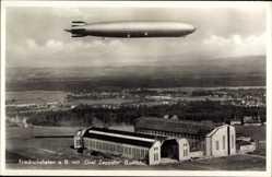 Postcard Friedrichshafen am Bodensee, Graf Zeppelin, LZ 127, Hangar