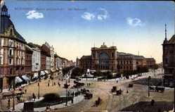 Postcard Budapest Ungarn, Keleti palyaudvar, Ansicht vom Ostbahnhof