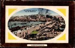 Präge Passepartout Ak Konstantinopel Istanbul Türkei, Nouveau Port