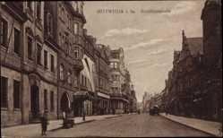 Postcard Mittweida in Sachsen, Blick in die Rochlitzer Straße