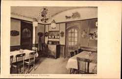 Postcard Korntal Münchingen im Kreis Ludwigsburg, Gemeindegastaus, Postzimmer