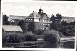 Postcard Falkenau Flöha in Sachsen, Altes Landhaus, Direkt am See