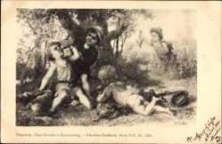 Künstler Ak Jäger machen rast im Schatten, Theo Stroefer VIII 5638