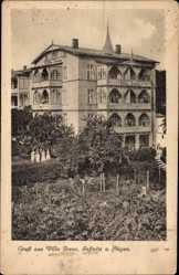 Postcard Sassnitz auf der Insel Rügen, Seitenansicht der Villa Irene