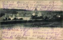 Postcard Kaisheim im schwäbischen Kreis Donau Ries, Panoramaansicht, Kirche