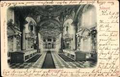 Ak Admont Steiermark Österreich, Blick in die Stiftsbibliothek, Bücherregale