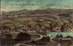 Postcard Dittersdorfer Höhe Amtsberg, Stadtpanorama, Keilberg, Bärenstein, Fichtelberg