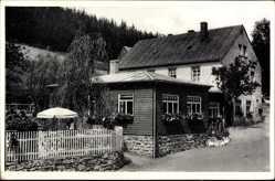 Postcard Großrückerswalde im Erzgebirge, Lokal Schindelbachmühle, Inh. K. Keinert
