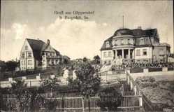 Postcard Göppersdorf Burgstädt in Sachsen, Stadtansicht, Garten, Gebäude