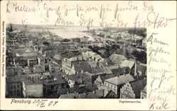 Postcard Flensburg in Schleswig Holstein, Stadtpanorama, Luftbild