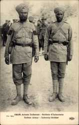 Postcard Armée Indienne, Soldats d'Infanterie, Indische Infanteriesoldaten