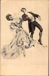 Künstler Ak Reznicek, Tanzendes Paar, Simplicissimus V 12