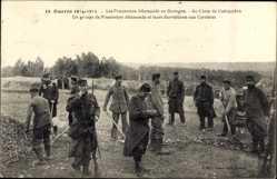 Ak Guerre 1915, Prisonniers Allémands en Bretagne, Camp de Coetquidan,Steinbruch