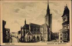 Postcard Düren in Nordrhein Westfalen, Blick auf die Annakirche, Oberstraße, Turm